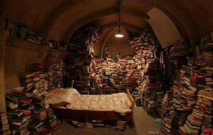 hoarding books
